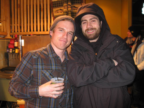 Ben Kelly wearing a Bobby Worrest flannel standing next to a Bobby Worrest human.