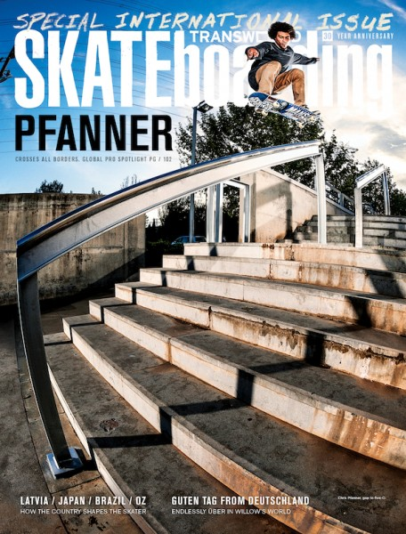 Chris Pfanner Transworld Cover December 2012