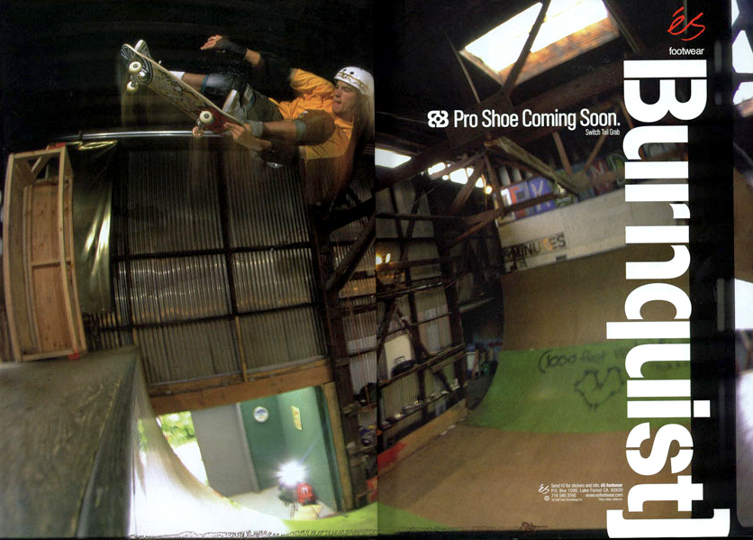 Switch tailgrab for a '98 éS shoes ad.