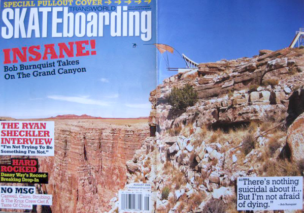 The notorious Grand Canyon cover, grind to free fall. August '06.