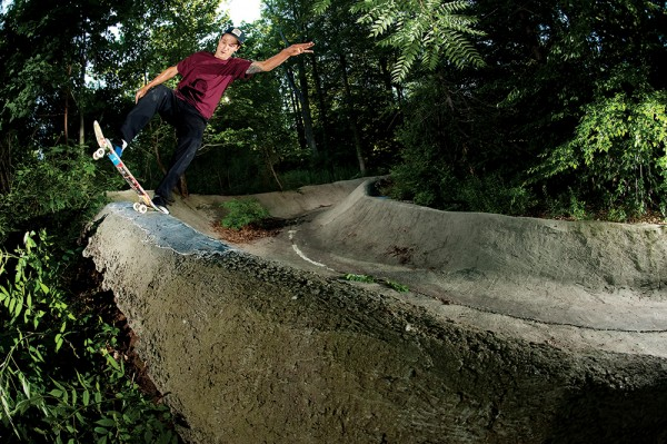 Unspoiled noseblunt slide in the woods. Photo / Chami.