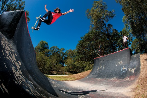 Staple front blunt from a 2012 Creature tour in Australia. Photo / O'Meally.