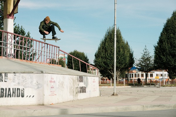 Ollie to quick drop on a Levi's trip. Photo / Mehring.
