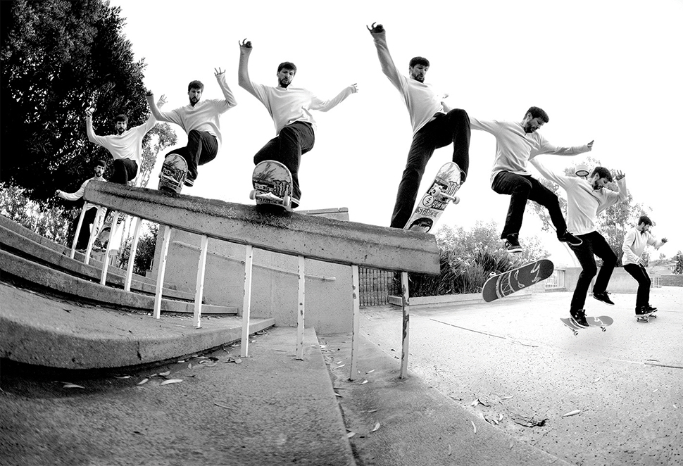 Chris Cole, frontside boardslide kickflip out. Photo / SHIGEO (*click to enlarge)
