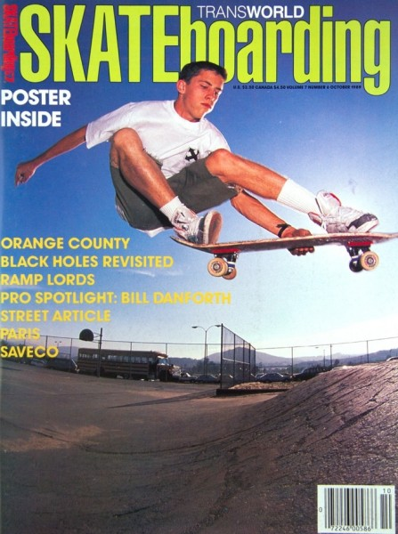 Prior to the '90s, Hensley had already shot a ton of classic photos further down the bank. Here is the October 1989 TWS cover of a melon to fakie. Photo: Brittain.