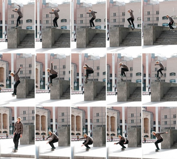 A frontside nosegrind nollie flip out with enough boom to shake all association-seeking stoners crowding the streets of Barcelona.