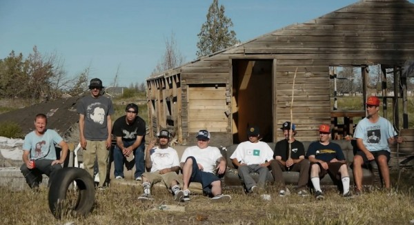 Partial team photo/still from the videos intro. From left: Julien, Frank, Tony, Andy, Jeff, Robbie, Raney, Hewitt, and Cardiel.