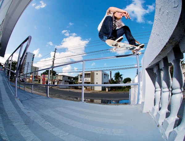 Tommy Sandoval, crooked grind. (*click to enlarge)