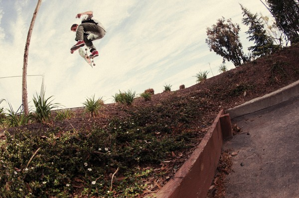Fakie flip. (*Click to enlarge)