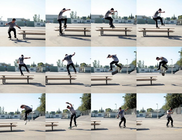 Switch 180 five-0 backside flip out. (*Click to enlarge)