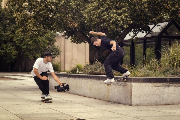 Johnny chases Antonio Durao with a switch backside tailslide as seen in CORE. Photo / @zalfa
