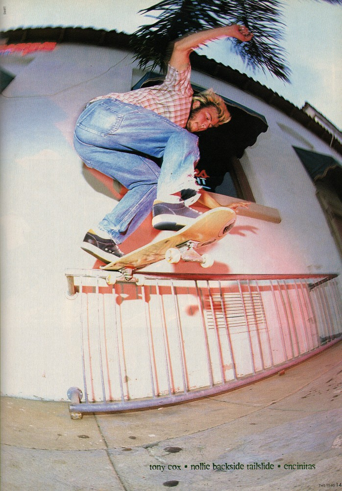 Nollie back tail in Encintas, CA from our Nov. 1995 issue. Photo: Swift.