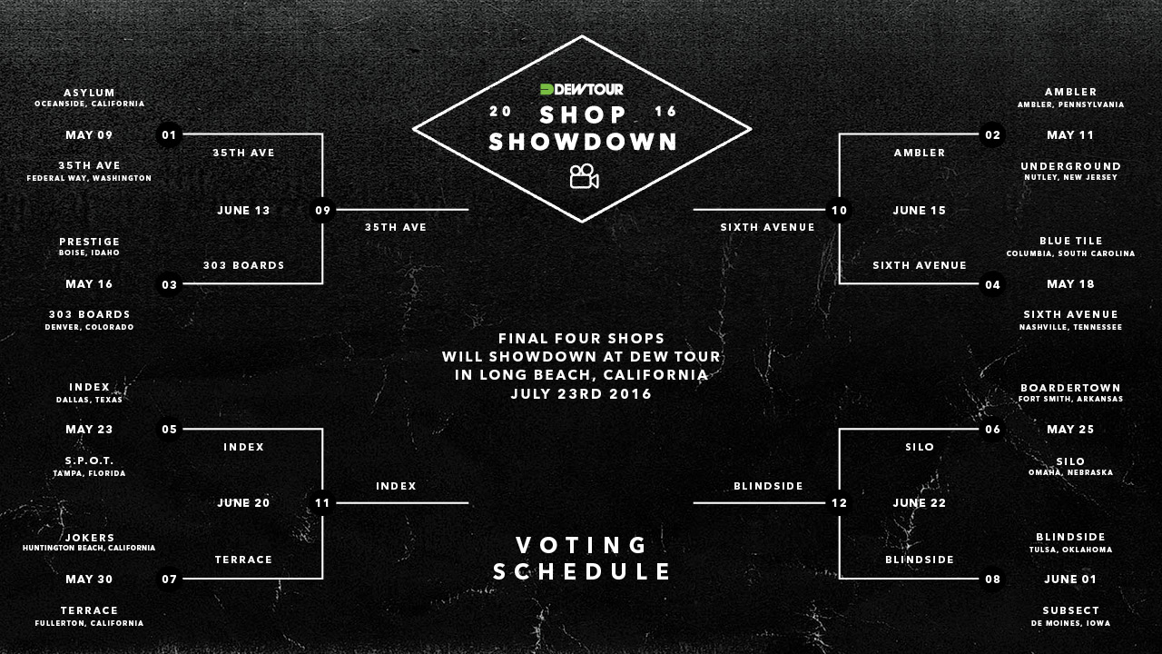 Dew Tour Shop Showdown 2016