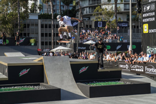 Ryan Sheckler full cabbing his way into first place.