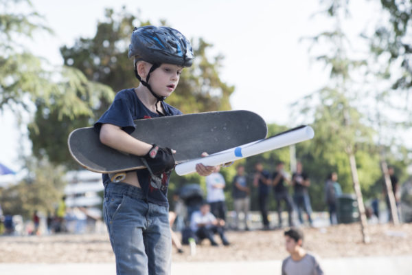 On the right path. Skateboarding's future is the youth.