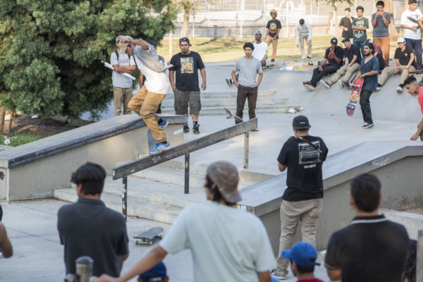 The contest was heated. Mid crooks to nollie flip out.