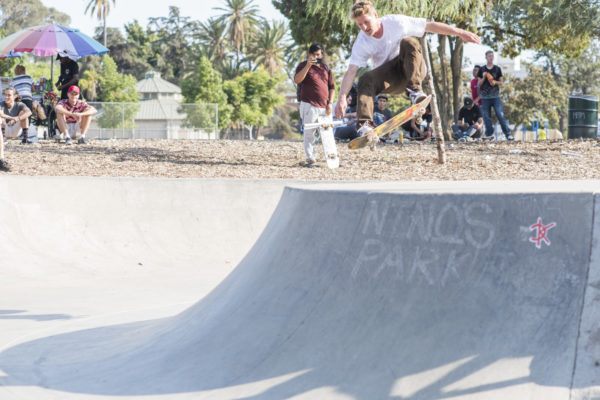 Casual ollies on the only quarterpipe at Lincoln Skate Plaza. Dennis makes you want to skate a ramp.