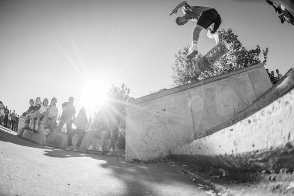 Miles did this kickflip front nosegrind switch too. You'll have to wait for the #awaydaystour recap to see that one.