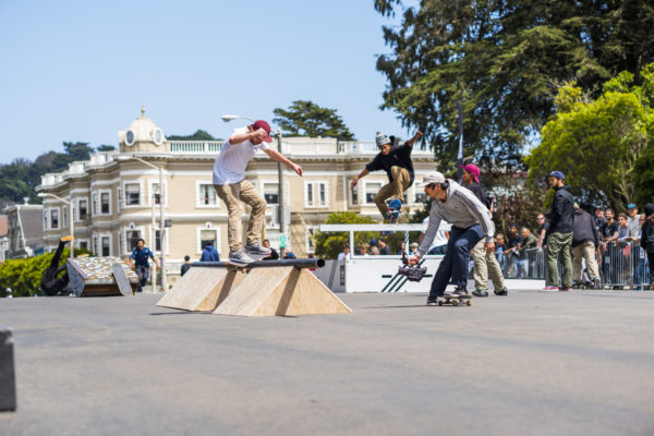 Not your typical flatbar, Silas feeble grinds FTC's #bringyourbuild obstacle.