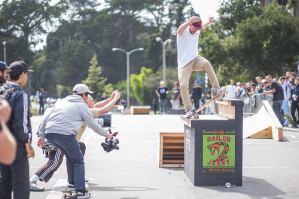 Good times to be had with this bump to bar. Silas noseblunts with ease.