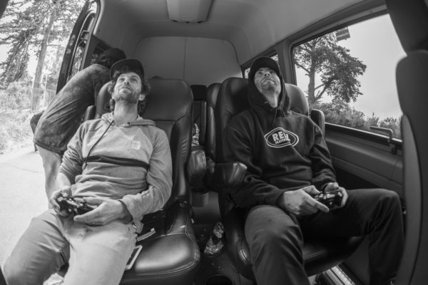 Every tour van should have video games.