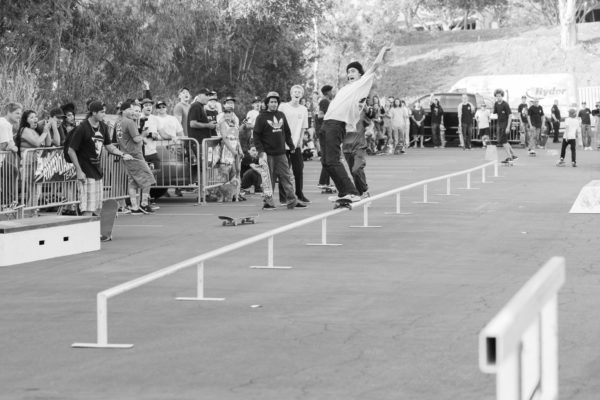 Taking it to the end on Transworld's 100 foot flatbar, Isaac Santana wins himself a year's supply of adidas Skateboarding shoes.