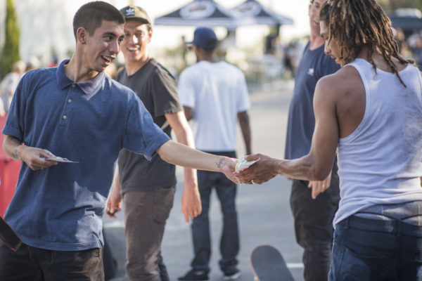 The best trick contest always delivers. Solid tricks equaled cash and prizes from Miles Silvas.