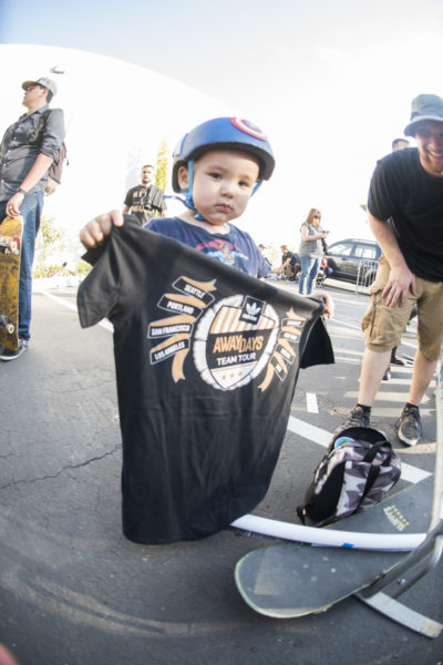Even the little skaters walked away with #AwayDaysTeamTour shirts.