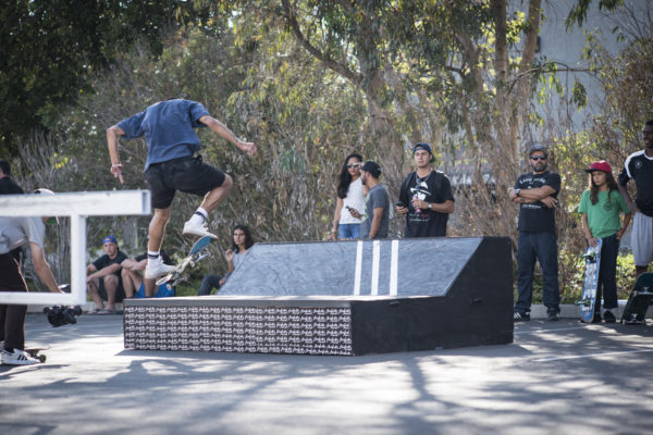 Kickflip nosegrind by Miles on the Asylum #bringyourbuild feature.