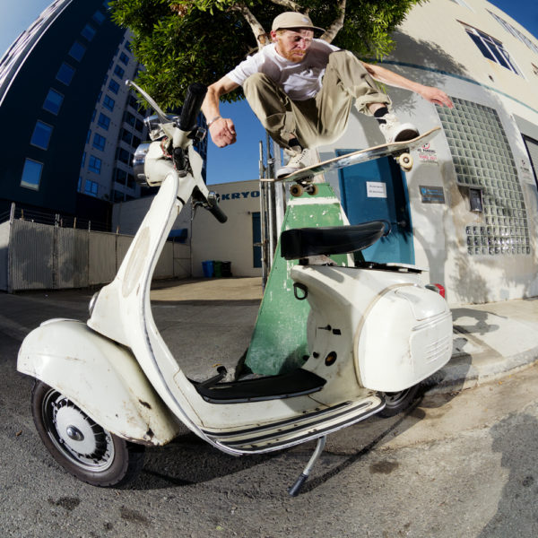 Wallie over Vespa. Photo / CHAMI