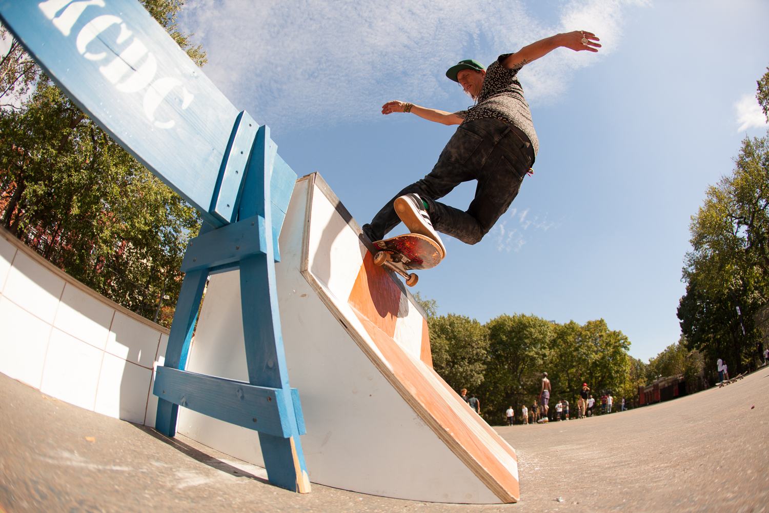 Josh Zickert, frontside rock on KCDC's obstacle.
