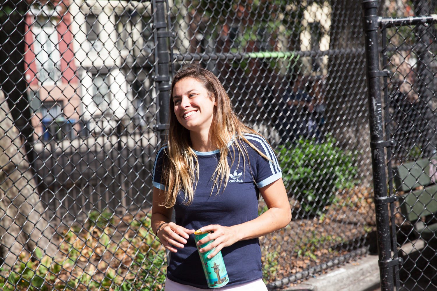 Nora Vasconcellos showing up and taking advantage of the free Arizona Iced Teas.