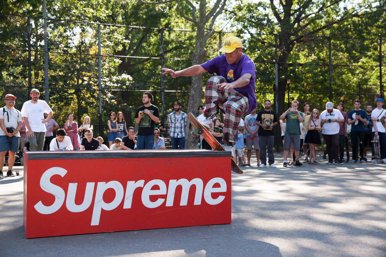 Mark Gonzales wallies up onto the Supreme box.