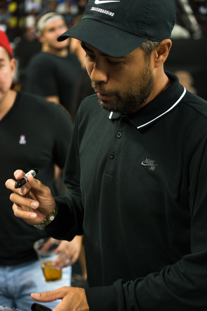 Koston signs for the fans.