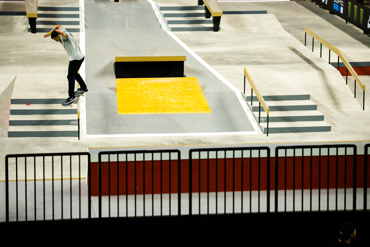 Paul Rodriguez, switch backside Smith grind.