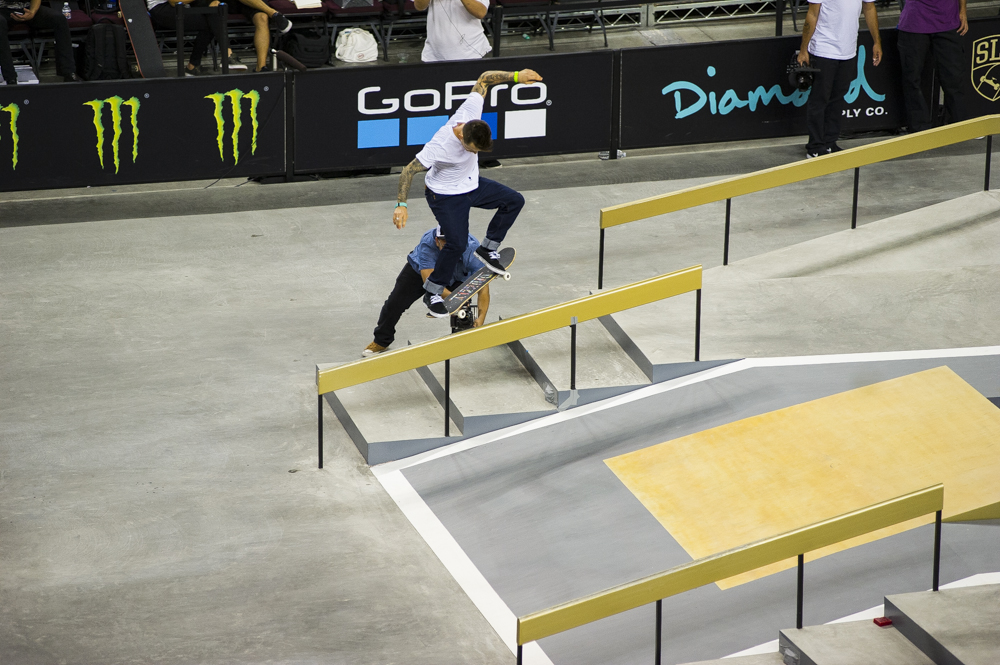 Cody McEntire, switch kickflip frontside crooked grind.