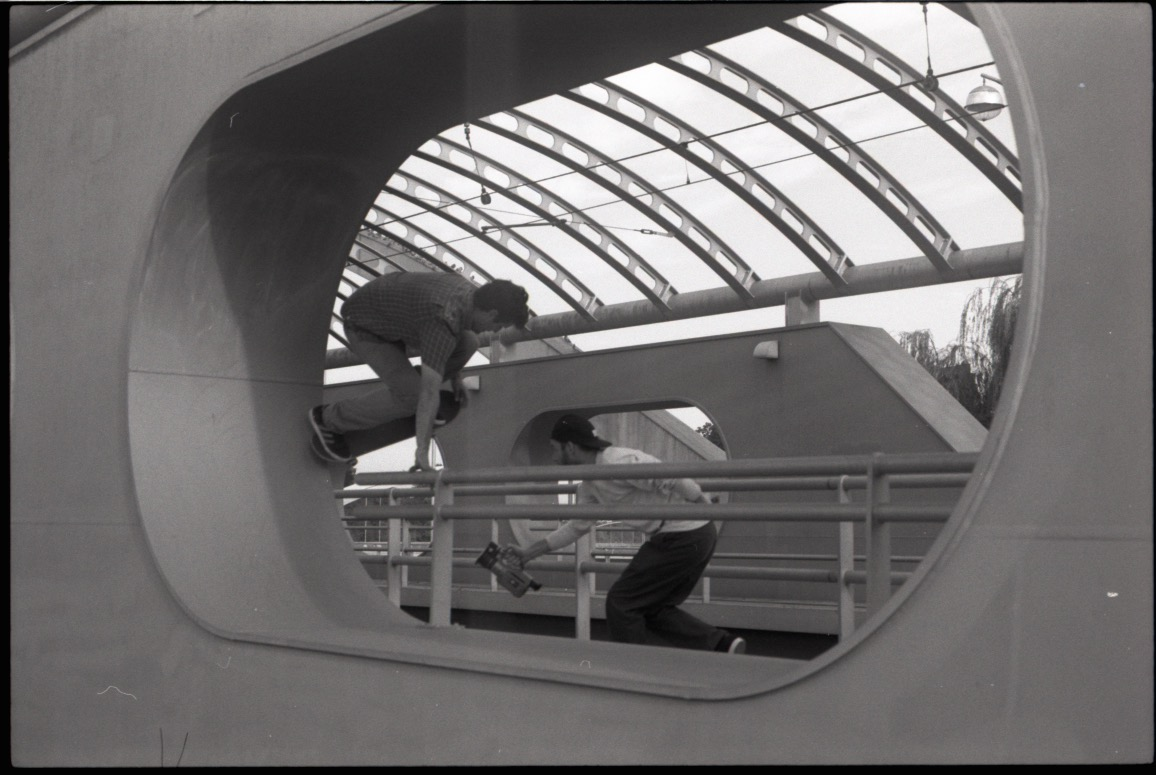 I am a working adult with brittle knees and this is the way I choose to spend my vacation. It was easy to find spots that fit my tastes in Germany - basically anything that does not require me to ollie. Brett Nichols - layback backside 180 nosegrab - Bobby Groves photo
