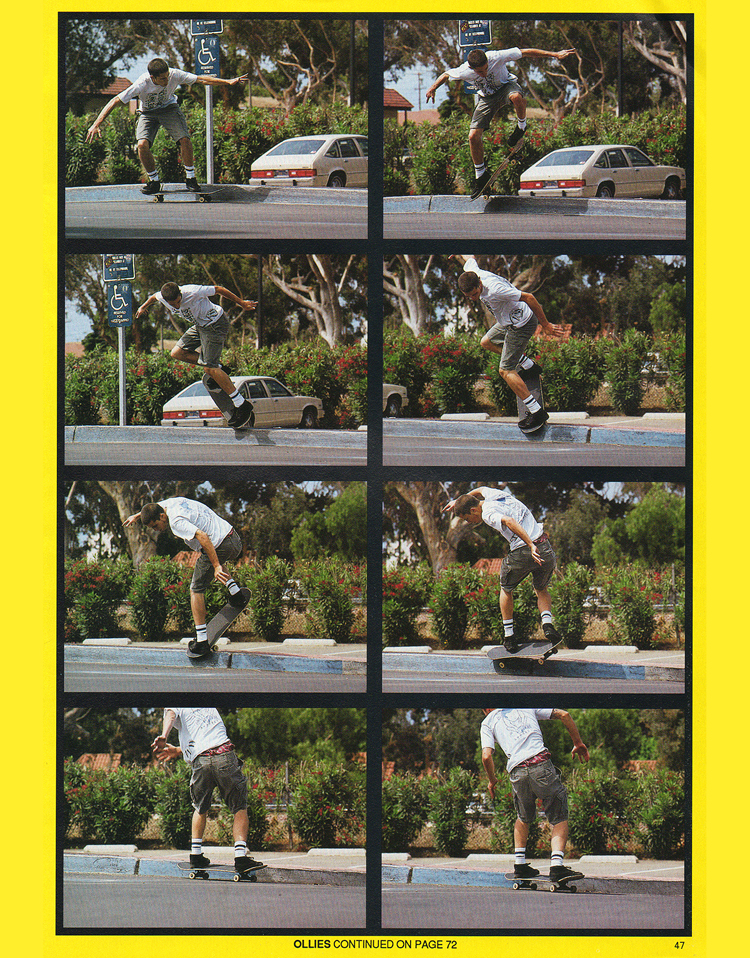 Exhibit A: Matt's sequence in Carlsbad. Photo: Sturt. TWS Dec. 1991, Vol. 9, No. 12.