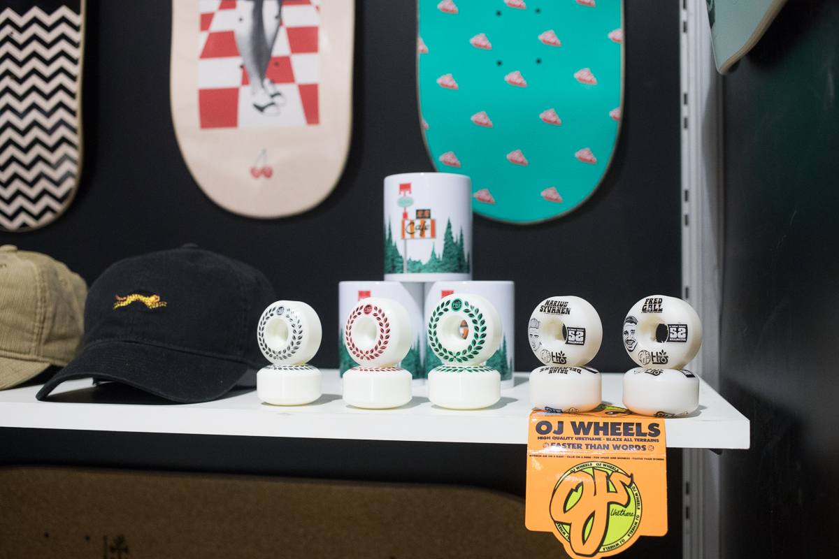 OJ wheels in the Habitat booth.