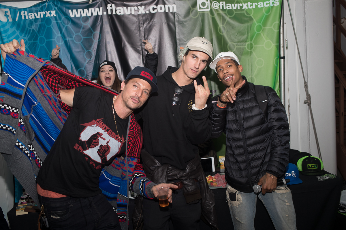 Dirt Nasty and the boys at the FlavRX booth.