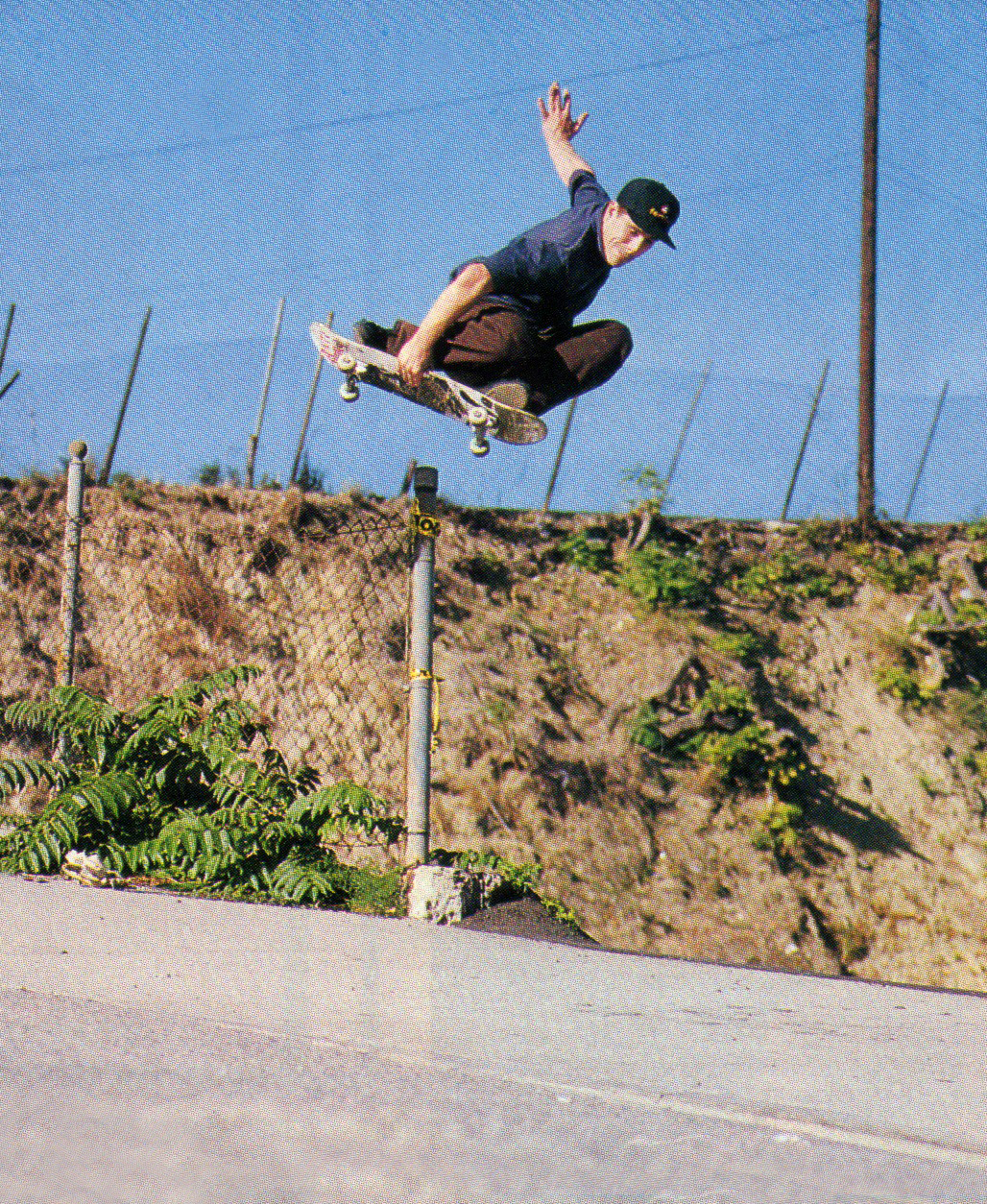 John Cardiel, Japan over a pole. Photo: Morford. TWS Aug. 1999, Vol. 17, No. 8.