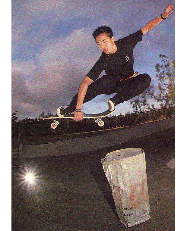 The Donger, aka Kien Lieu with a hefty one at School W. Photo: Sherman. TWS July 1990, Vol. 8, No. 7.