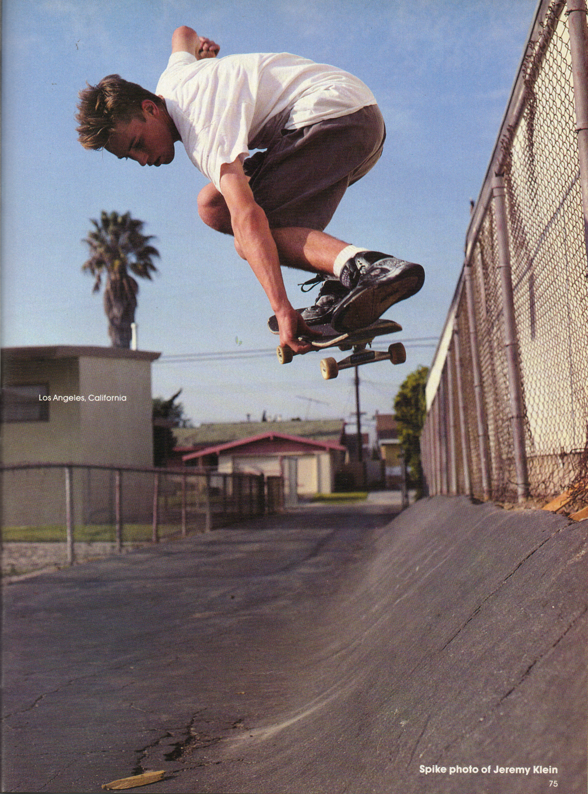 Jeremy Klein. Photo: Spike. TWS Sept. 1990, Vol. 8, No. 9.
