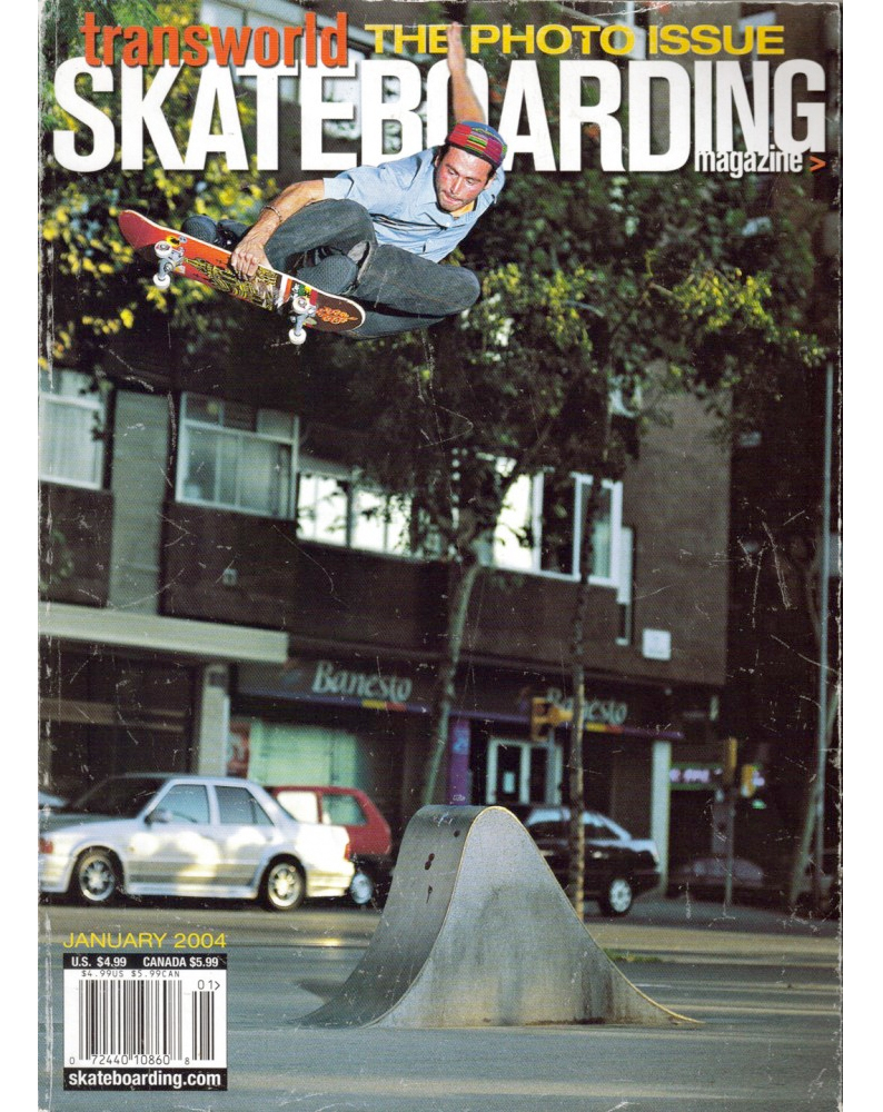 Tony Cox pays homage to Philippe on our Jan. 2004 cover. Photo: Thompson. Vol. 22, No. 1.
